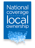 National Coverage Local Ownership badge