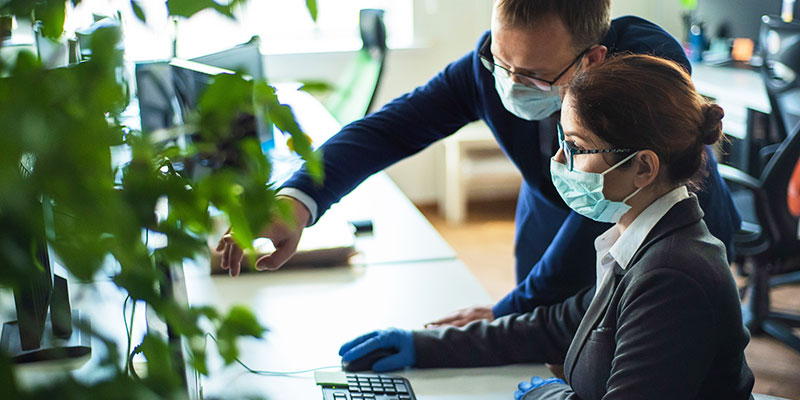 Colleagues-In-Surgical-Masks-I-368703886