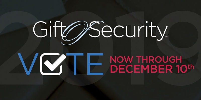 2019 Gift of Security vote now for a nonprofit