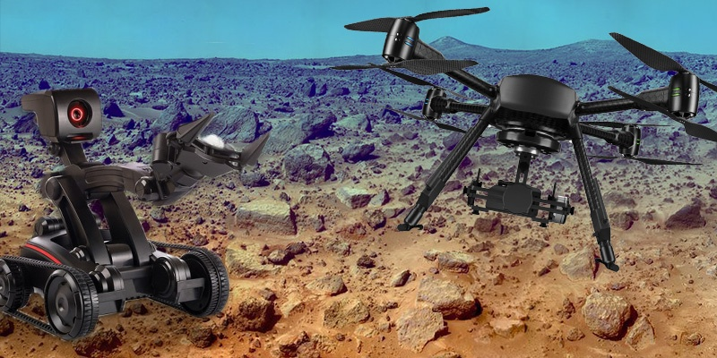 AI drones and robots
