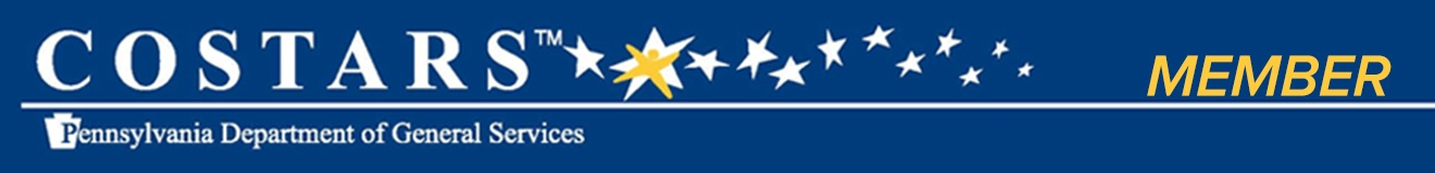 Costars Member - Pennsylvania Department of General Services