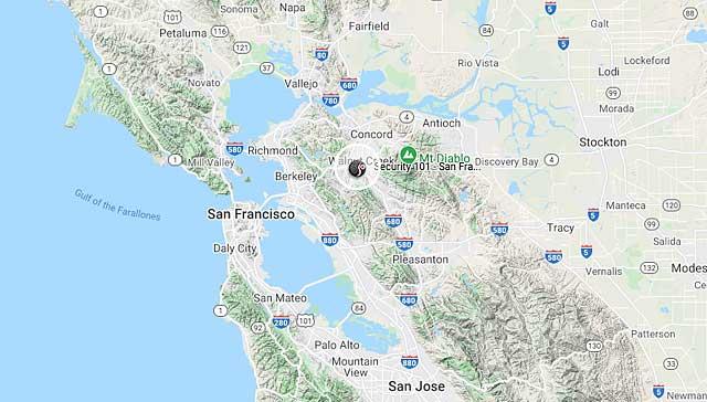 Security 101 - San Francisco Bay Area Location Map